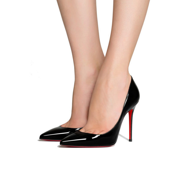 Christian Louboutin Decollete 554 100 patent black