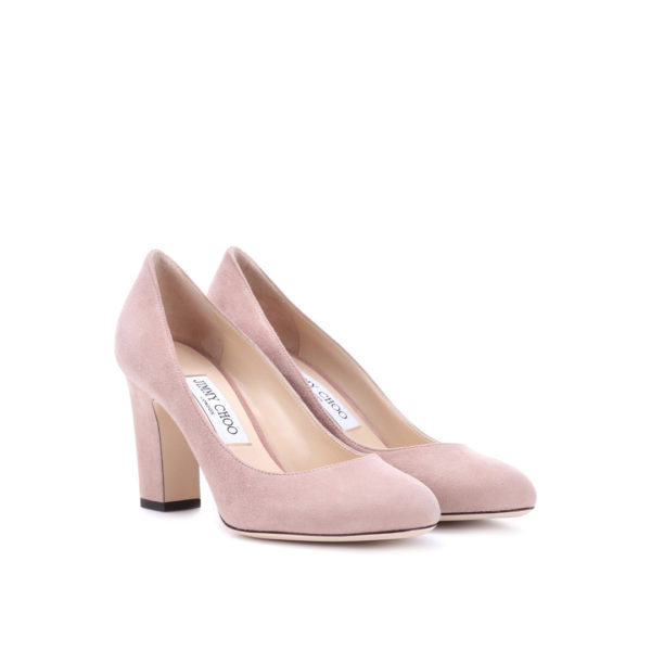 Jimmy Choo Billie 85 suede ballet pink