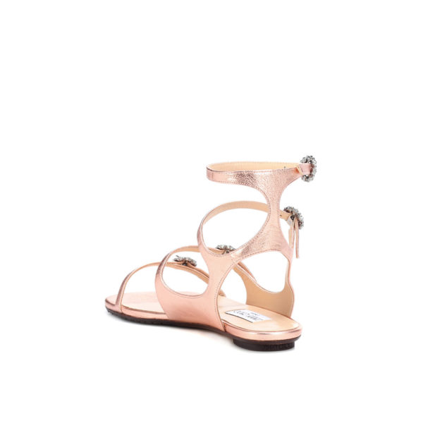 Jimmy Choo Naia Flat tea rose