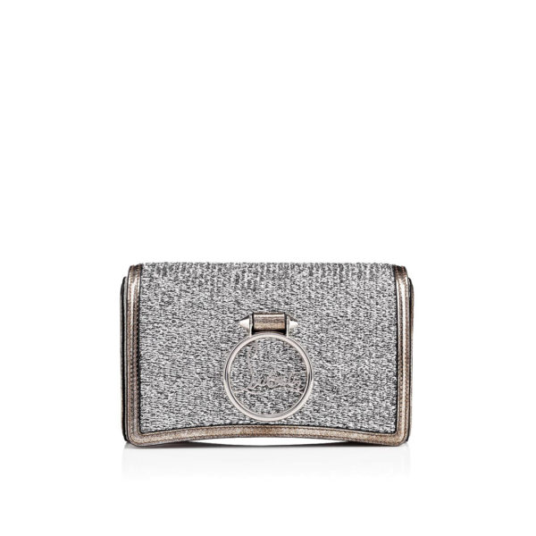 Christian Louboutin Rubylou Clutch silver