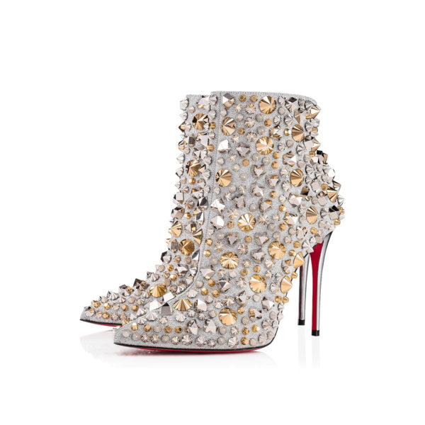 Christian Louboutin So Full Kate silver ankle boots