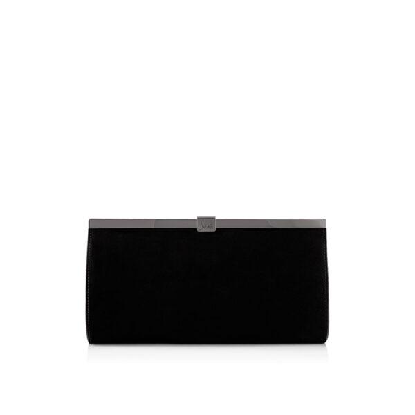 Christian Louboutin Palmette black velvet Clutch