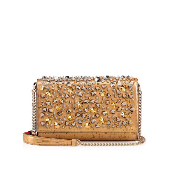 Christian Louboutin Paloma Clutch Gold Cork