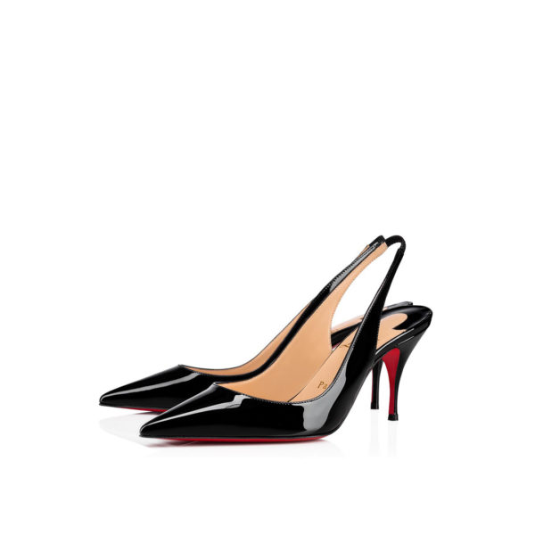 Christian Louboutin Clare Sling black patent pumps