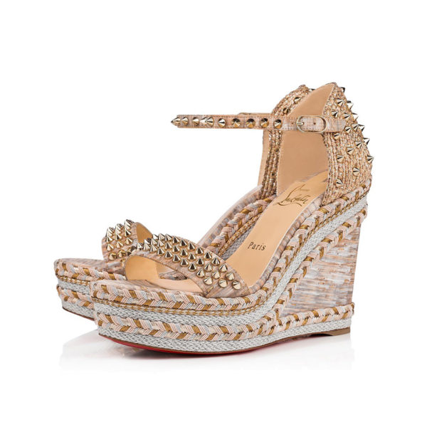 Christian Louboutin Madmonica Version Naturelle Cork wedges