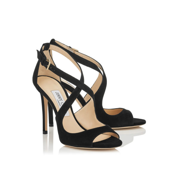 Jimmy Choo Emily 100 black suede sandals