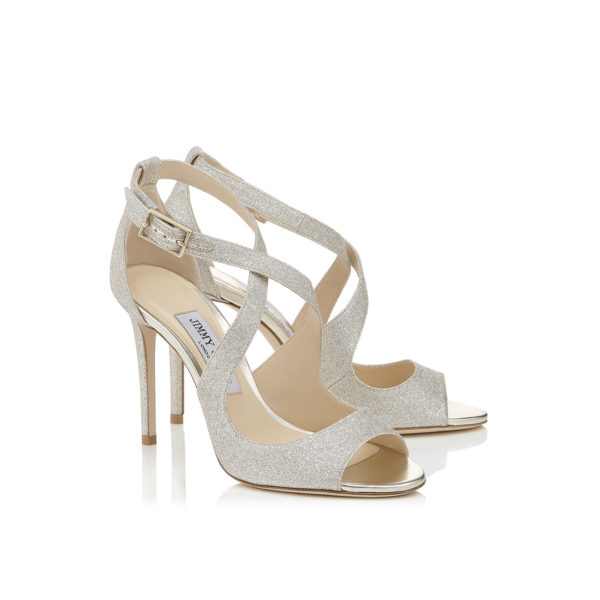 Jimmy Choo Emily 100 platinum ice