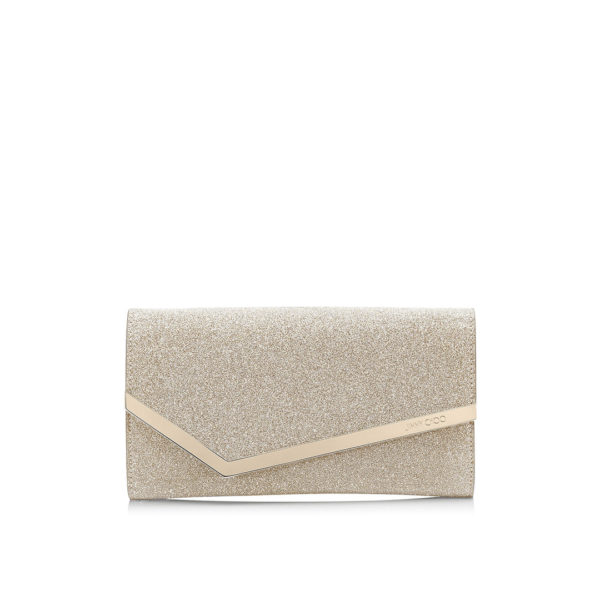 Jimmy Choo Emmie platinum ice clutch