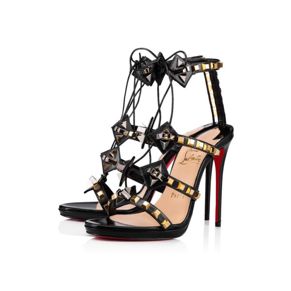 Christian Louboutin Multiplaticool black leather sandals