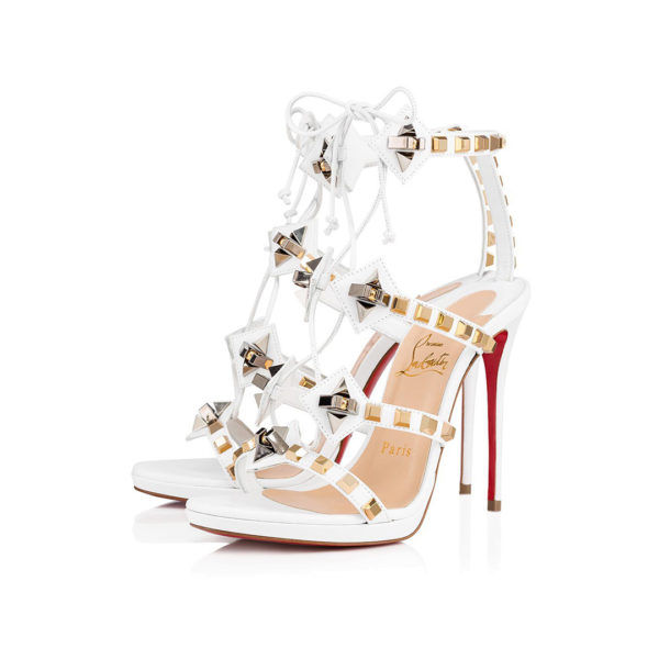 Christian Louboutin Multiplaticool white leather sandals