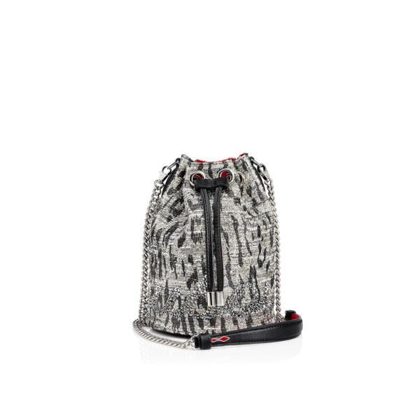 Christian Louboutin Marie Jane Bucket Bag silver