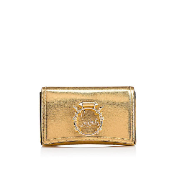 Christian Louboutin gold Rubylou Clutch